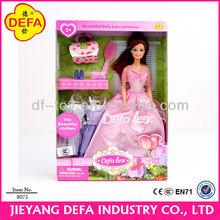 fashional mathching niña ropa de muñecas de plástico