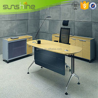 Metal Table Leg MDF Board Curved Office Computer Table Models With Prices