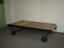 antique fir furniture with wheel coffee table