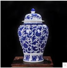 factory wholesale blue and white porcelain ginger jars vase for home deco