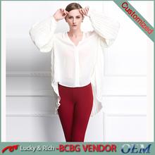 Wholesale plus size smart casual fashion ladies sample blouse