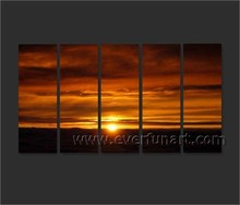 Wall art for decor oil painting as sunset on canvas from China