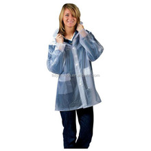 Ladies Transparent Vinyl Fashional Cheap Prices Plastic PVC Raincoat