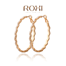 2015 new arrival rose gold plated circular earrings Euro-american popular decoration