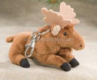 keychain plush toys/promotional plush toy elk/anime keychain plush toys