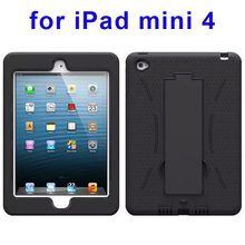 online shopping promotion hybrid robot rugged kickstand case for iPad Mini 4