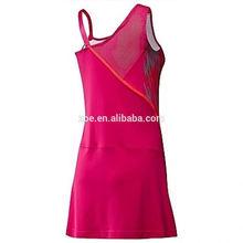 2014 nuevo deporte sexy chica de la sublimación vestido de tenis