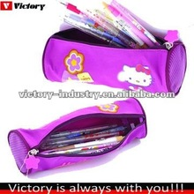 Printing round pencil bag for kids,school pencil pouch