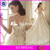 Latest Design of Appliqued Sleeveless Champagne Covered Back Alibaba Wedding Dress