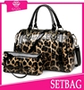 2015 new arrival fashion ladies leopard casual bags 2pc purse and handbag college leather bags manufacturer set bag in China