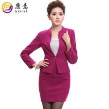 Feito para medir a senhora do escritório de design uniforme, mulheres terno de negócio