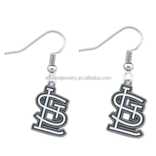 New Enamel MLB Team Logo Charm Earrings St. Louis Cardinals Charms Earrings