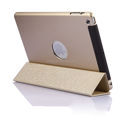 [CX] Hot selling ultra thin slim 2 in 1 case aluminum and PU leather case For iPad Air / Air2 tablet case