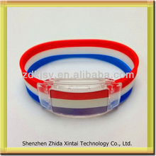 China manufacturer new products innovations LED silicone Wristbands Bracelets