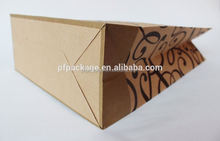 Hot sale customized kraft paper poly lined bag