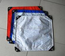 fire resistant tarpaulin/tarpaulin banner/tarpaulin eyelet machine