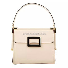 fashion leather handbags white made in china for wholesale and OEM