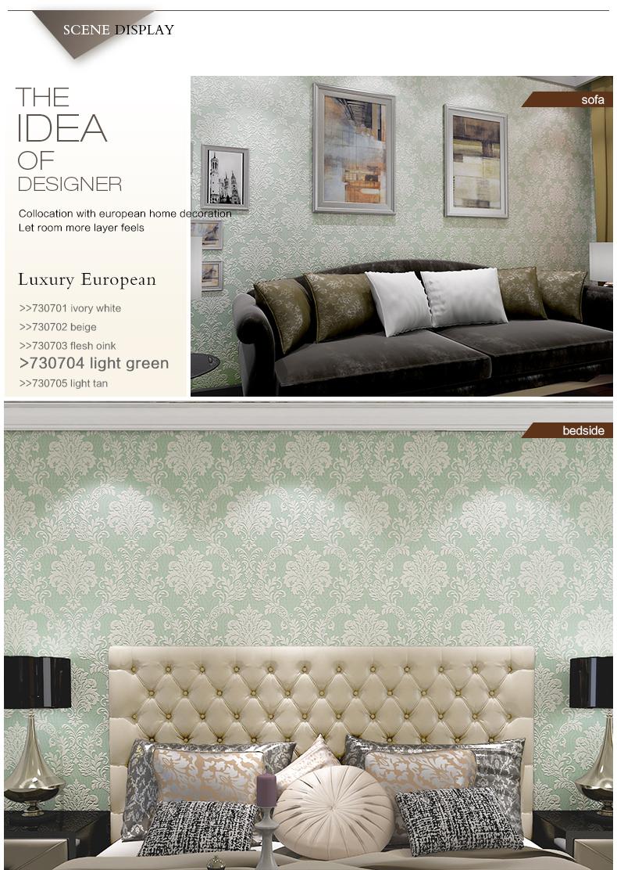 3d decoratieve empaisitc europese stijl damascus non  woven behang ...