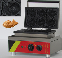 Free shipping!! Adorable electric taiyaki maker, fish shape waffle machine, waffle making machine