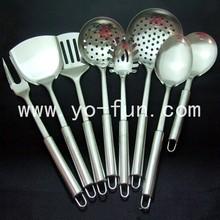 JJJ500 European style 18/8 stainless steel 7pcs set kitchen tools