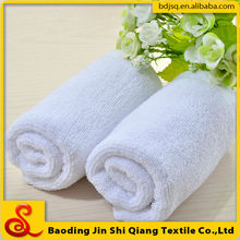 Promotional White Cotton Disposable Hotel Towel, Stock Hotel Towel