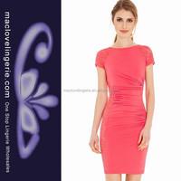 ML18152 2015 Women Casual Peach Fitness Online Shop Dresses Cheap
