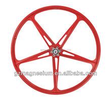 mag 5 spoke bicycle wheel for pocket bike