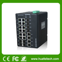 4 GC + 8 10/100/1000Base-TX Industrial Ethernet Switch/ High Performance 12 port gb ethernet switch