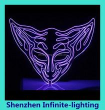 2015 wholesale flashing light party mask purple LED party mask