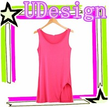 Open sexy hot sex modal vests plain pink tank tops wholesale