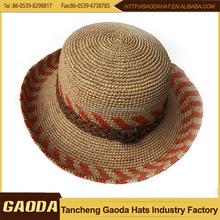 Natural color best selling Raffia straw womens summer hats