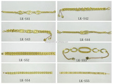 Brass Jewelry Manfacturer Many Different Designs Cheap Bulk Wholesale New 22K Gold Bracelet for Sale