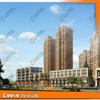 Towering Building Modern Architecture Portable Apartments