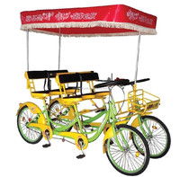 steel frame tandem bicycle four person bike