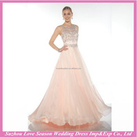 HE10063 sexy women party dress halter beaded elegant chiffon evening dresses long latest design formal evening gown
