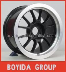 13*8 car alloy wheels/rims black machine lip