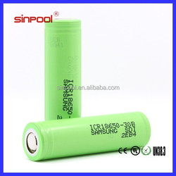 Samsung ICR18650-30B 18650 3000mah ecig value regulated rechargeable dry cell rechargeable battery