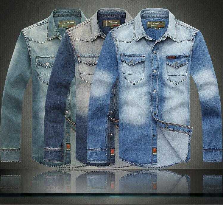 Casual Jeans Shirts For Men Sleeve Men's Jeans Shirts