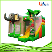 inflatable jumping bouncer/ green inflatable castle for sale