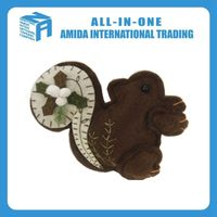 High quality household selling Christmas small squirrel hanging ornament