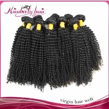 100% Malaysian Remy virgin kinky curly Human Hair weft