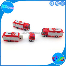 Customized pvc pendrive memory pvc fire truck wholesales flash memory