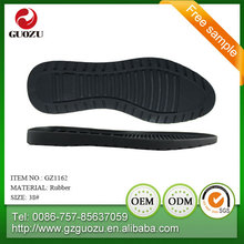 men black color flat shoes raw materials for rubber shoe sole
