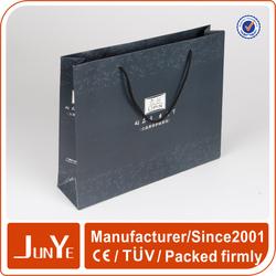 high quality kraft black paper advertising bags