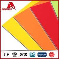colorful outdoor sign board material/acp/aluminum sandwich panel