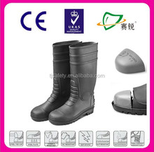 durable men's pvc cheap safety shoes rain boots with good quality