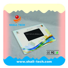 High quality LCD screen video card with custom printing for wedding invitation (VC-070)