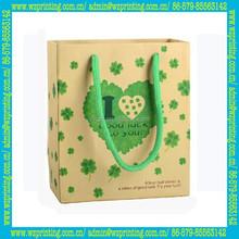 made in china high quality kraft paper brown handbag