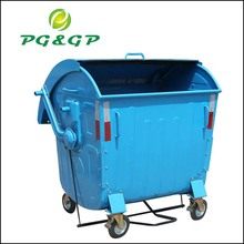 Yellow waste container customized