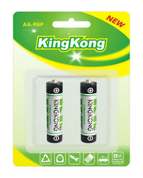 R6 1.5V size AA silver jacket Zinc carbon dry Battery R6 for clock